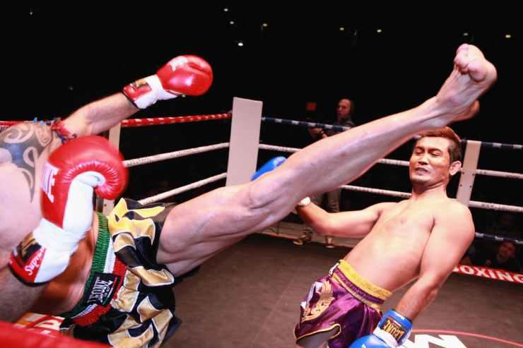 adult athlete battle fight